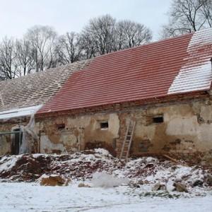 průběh opravy střechy