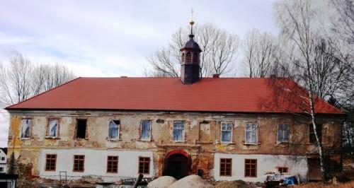 Stav zámku leden 2012