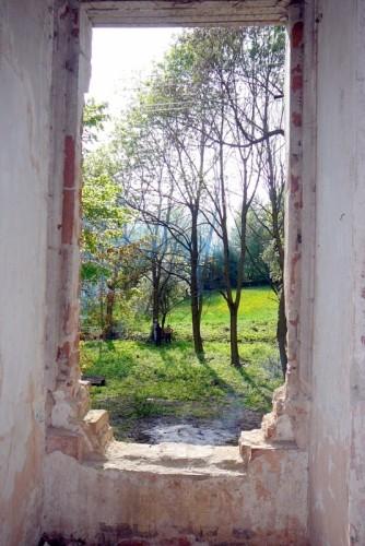 Pohled ze zámku do budoucího parku